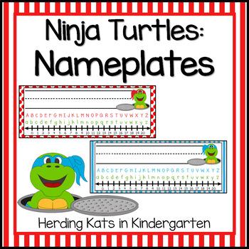 Turtle Themed Nameplates