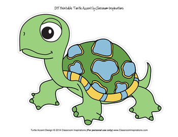 Turtle Time Accent Cutouts – Coordinates with Turtle Time Classroom Theme