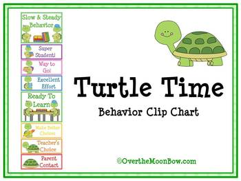 Turtle Time Behavior Clip Chart