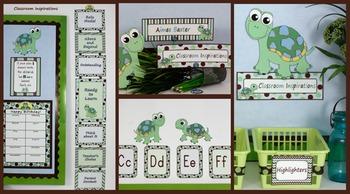 Classroom Themed Décor - Turtle Time Starter Bundle