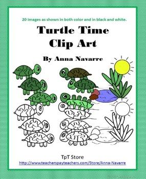 Turtle Time Clip Art