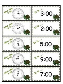 Turtle Time Matching Game