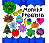 Turtle Tots_Months Freebie