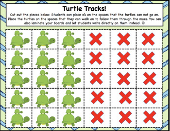 Turtle Tracks Maze Game Adding and Subtracting within 10