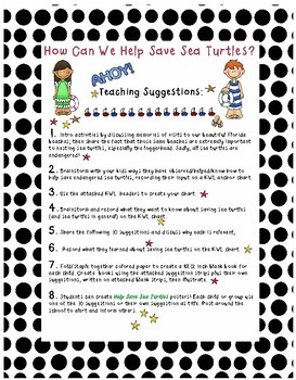 Turtle Tuesday, Help Save the Sea Turtles FREEBIE