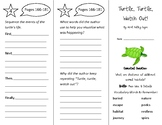 Turtle Turtle Watch Out Trifold - Wonders 2nd Grade Unit 2 Week 3