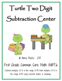 Turtle Two Digit Subtraction Center: Common Core Math 1.NBT.6