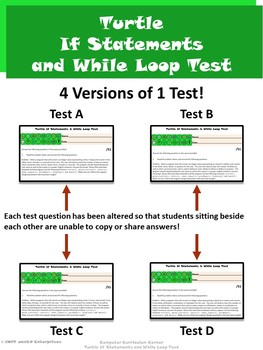 Turtle Unit 7 If Statements and While Loops ⇨EDITABLE⇦ Unit