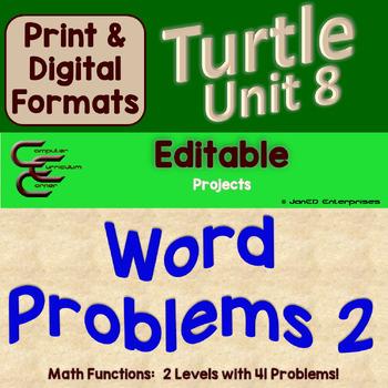 Turtle Unit 8 Word Problems 2 ⇨EDITABLE⇦ Unit