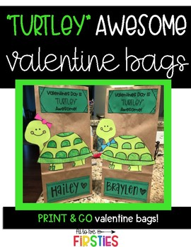 Turtle Valentine Bags