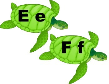 Turtle Word Wall Letters