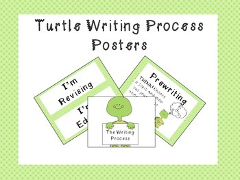 Turtle Writing Process Posters