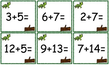 Turtle addition and Bird Subtraction Games