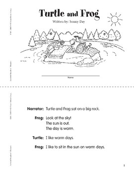 Turtle and Frog (Leveled Readers' Theater, Grade 1)