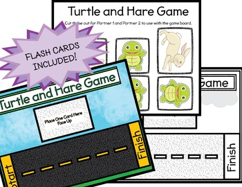 Sight Word and CVC Word Game (Turtle and Hare)