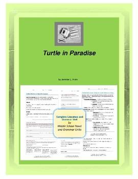 Turtle in Paradise Novel Unit