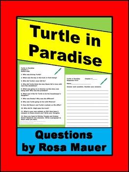 Turtle in Paradise Novel Study