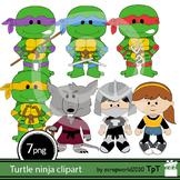 Turtle ninja mutant clipart+black white outline clip art