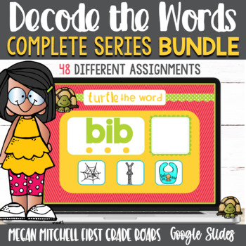 Turtle out the Word Phonemic BUNDLE using Google Slides