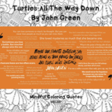 Turtles All The Way Down by John Green - mindful coloring quotes