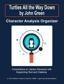 Turtles All the Way Down by John Green: Character Analysis Organizer