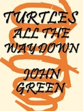 Turtles All the Way Down by John Green: Complete (Editable) Study Unit