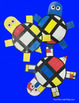 Turtles - Art Lesson Plan Inspired by Piet Mondrian