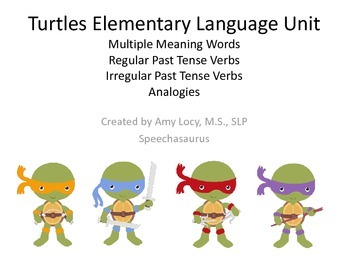 Turtles Elementary Language Unit
