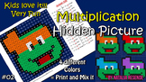 Turtles Multiplication Mystery Picture - Fun Math