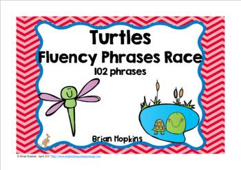 Turtles Sight Word Fluency Phrases Race