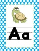 Turtles and Polka Dots Blue Alphabet Line