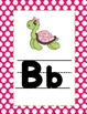 Turtles and Polka Dots Pink Alphabet Line