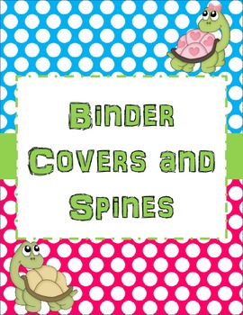 Turtles and Polka Dots Student Binder Covers & Spines
