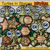 Turtles in Shapes - Shapes Clip art