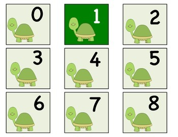 Turtle's numbers 0-100