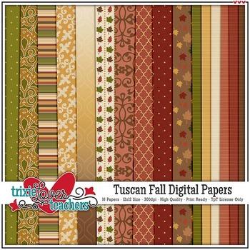 Tuscan Fall Digital Papers