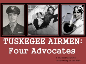 Tuskegee Airmen:  Four Advocates— Anderson, Brown, Parrish and E. Roosevelt