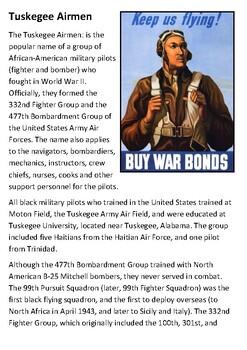 Tuskegee Airmen Handout