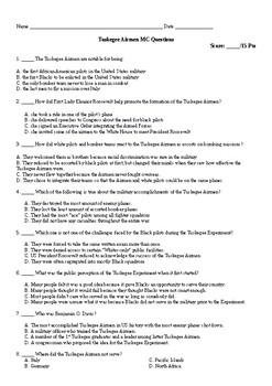 Tuskegee Airmen MC Questions