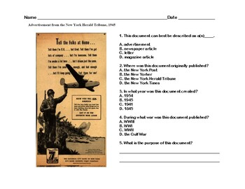 Tuskegee Airmen - Read and Write The Room- Scavenger Hunt-Grades 8-12