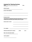 Tutor Contract in Word document