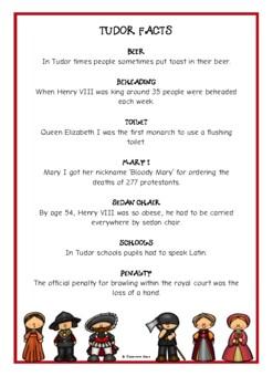 The Tudors Fact Cards