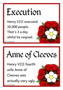 The Tudors Fact Cards