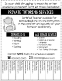 Tutor Flyer-Editable