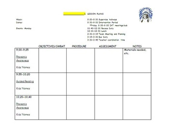 Tutor Lesson Plan Template