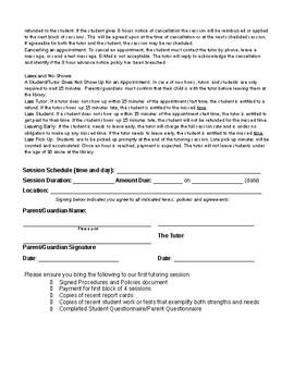 Tutor Policies / Procedures / Contract