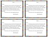 Tutor Thank You Cards