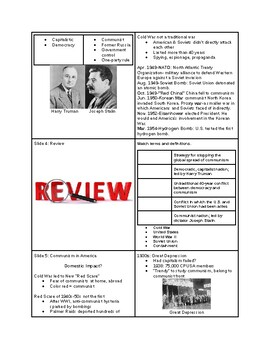 Tutorial - Cold War at Home - McCarthyism and the Red Scare