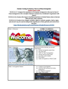 Tutorial - Coming to America: The Era of Mass Immigration