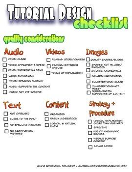 Tutorial Design Checklist
